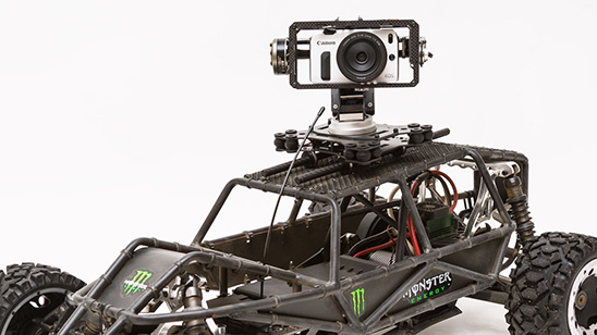 HPI Baja 5B FLUX mit Kamera Gimbal ähnlich Freefly TERO